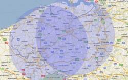 Geografische dekking Bumper.be & Nise-Solutions
