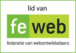 Lid van FeWeb, federatie van webontwikkelaars