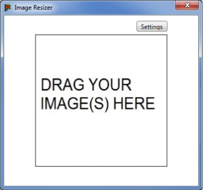 MyPicResizer: drag en drop om je afbeeldingen te resizen