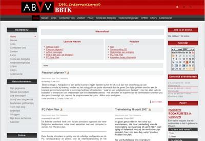 De website van en voor de BBTK van DHL Int